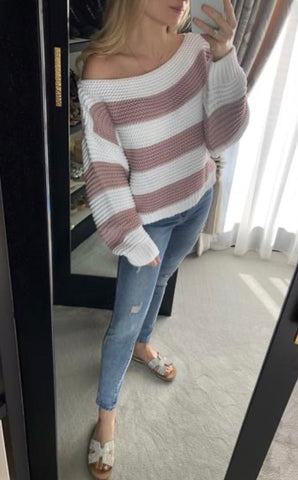 Stripe Top Pink