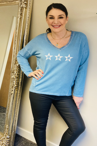 Blue Star Long Sleeved T-Shirt