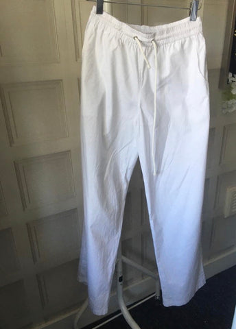 White Elasticated Trousers