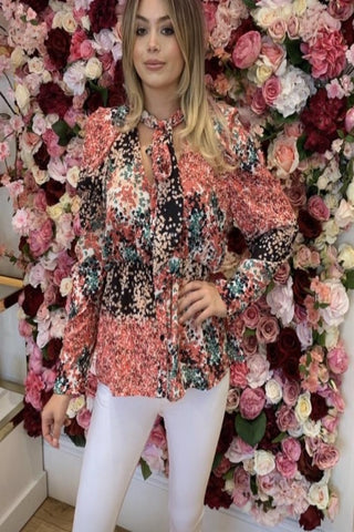 Bright Patterned Blouse