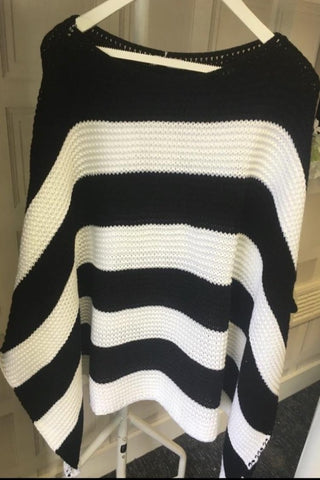 Stripe Top Black & White