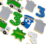 Trash Cans Trucks Decorated Cookies