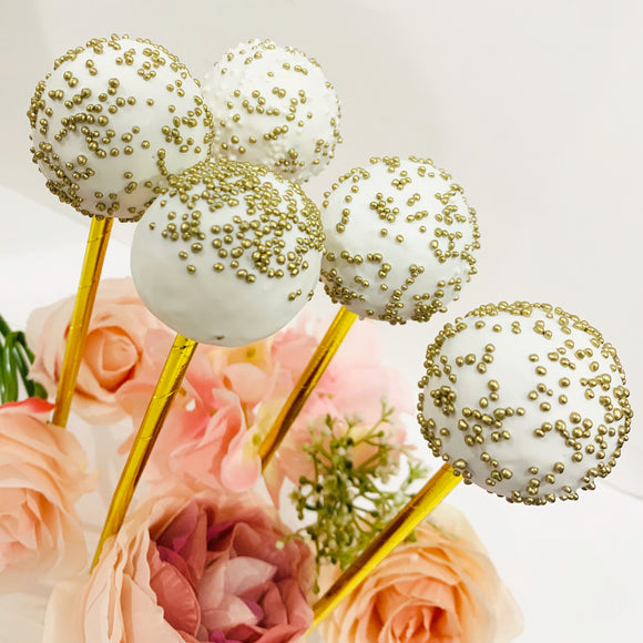 gold cake pops in LA CALIFORNIA