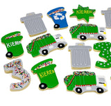 Trash Cans Trucks Decorated Cookies, sugar cookies, la cookies, birthday cookies.