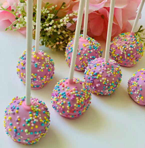 Sprinkles cake pop
