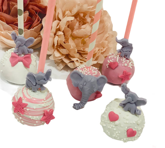 Elephant Themed Cake Pops