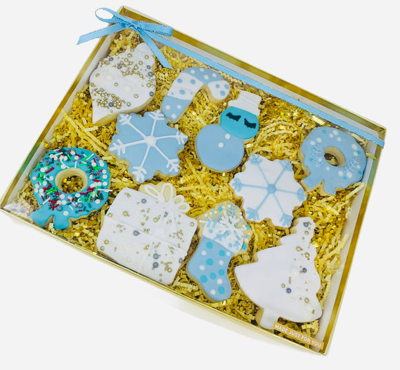 holiday cookie box, christmas sugar cookies, holiday treats, best gift in california