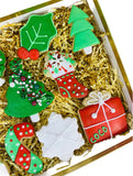 cocostreatla sugar cookie box, christmas treats, happy holidday gift