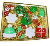 holiday cookie box, christmas sugar cookies, holiday treats, best gift in califor