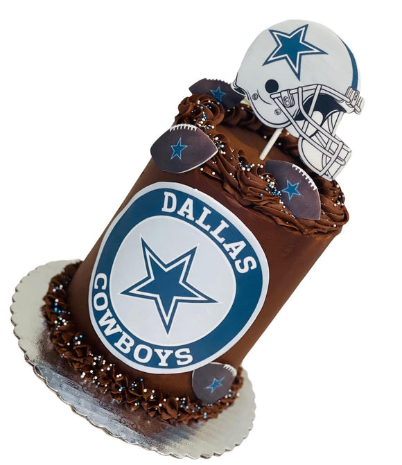 Football bday cake, dallas cowboys cake