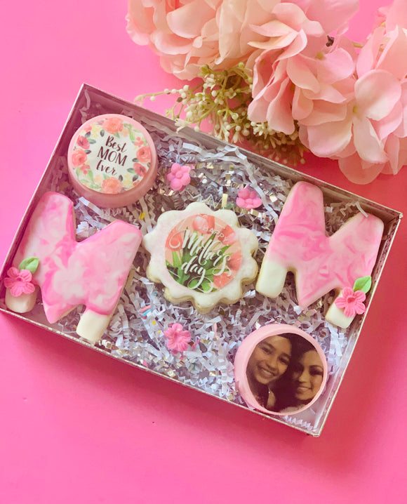 Mothers day sugar cookies, mothers day treat box, mothers day gift, treats box