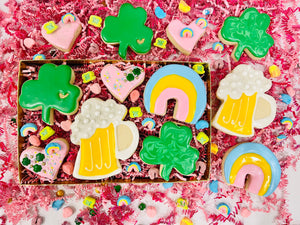 st patrique day sugar cookies, cookie creation kits, best treats in la , gift ideaa