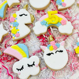 Unicorn birthday sugar cookies, rainbow birthday cookies, unicorn baby shower cookies, unicorn party, unicorn desserts, unicorn cookies