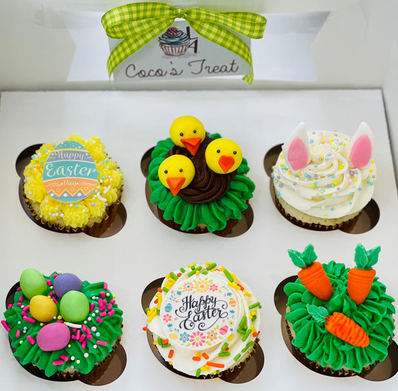 easter cupcakes, easter treats, easter gift idea, easter basket, easter sweet treats