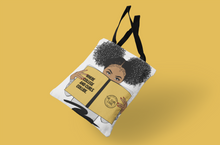 Load image into Gallery viewer, Natural hair inspired durable tote bag