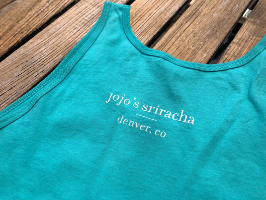 mission statement cotton tank - aqua cotton