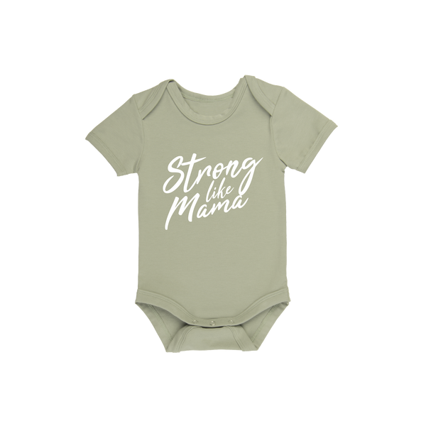 Strong Like Mama - Baby Onesie