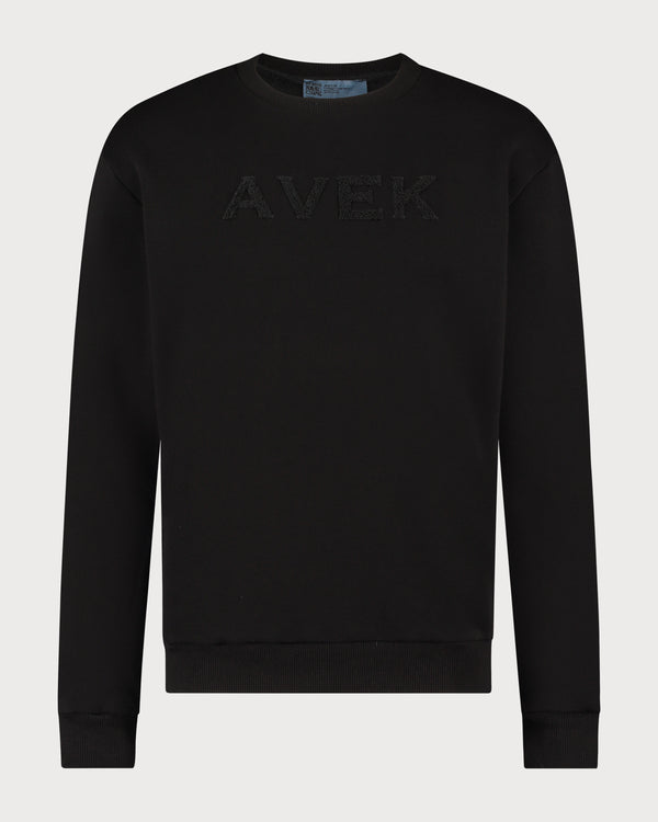 Embroidered Sweater - Black