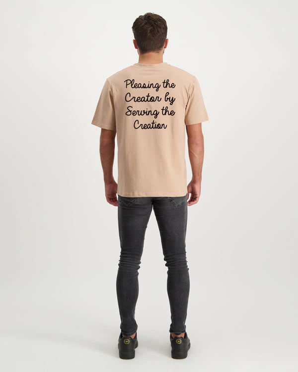 Pleasing the Creator Flock Tee - Beige