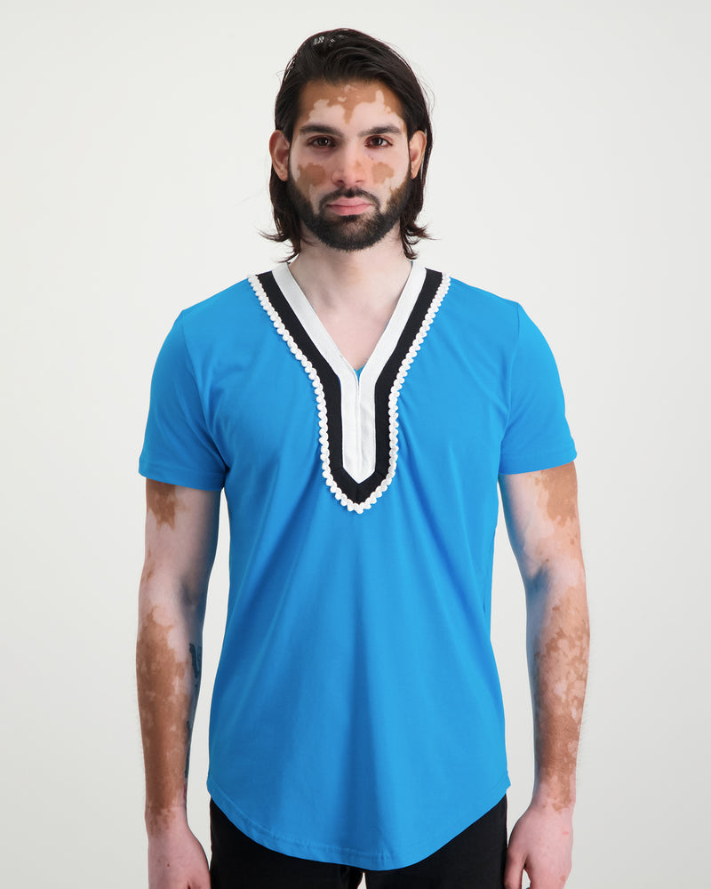Traditional Tee - Aqua Blue