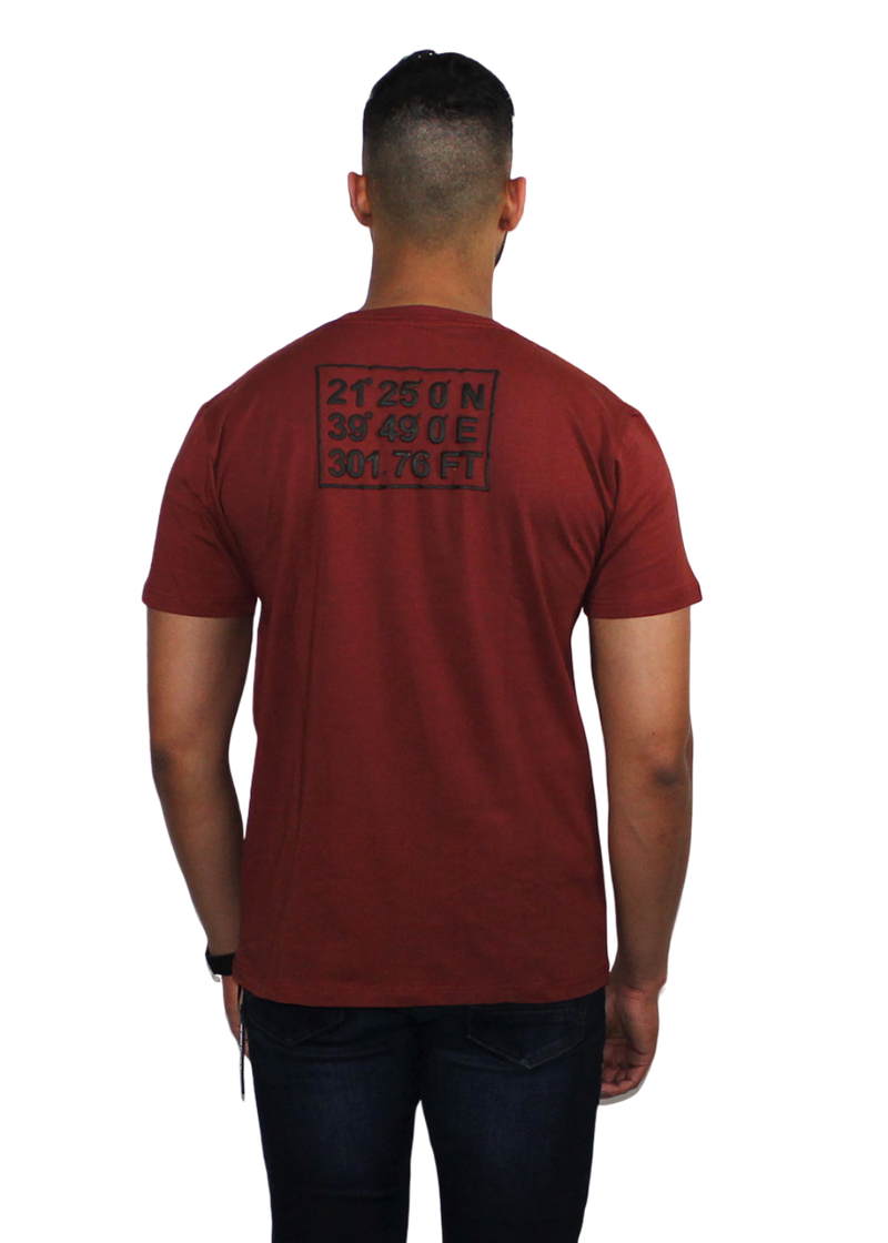 Avek Amsterdam GPS T-shirt Bordeaux/Red