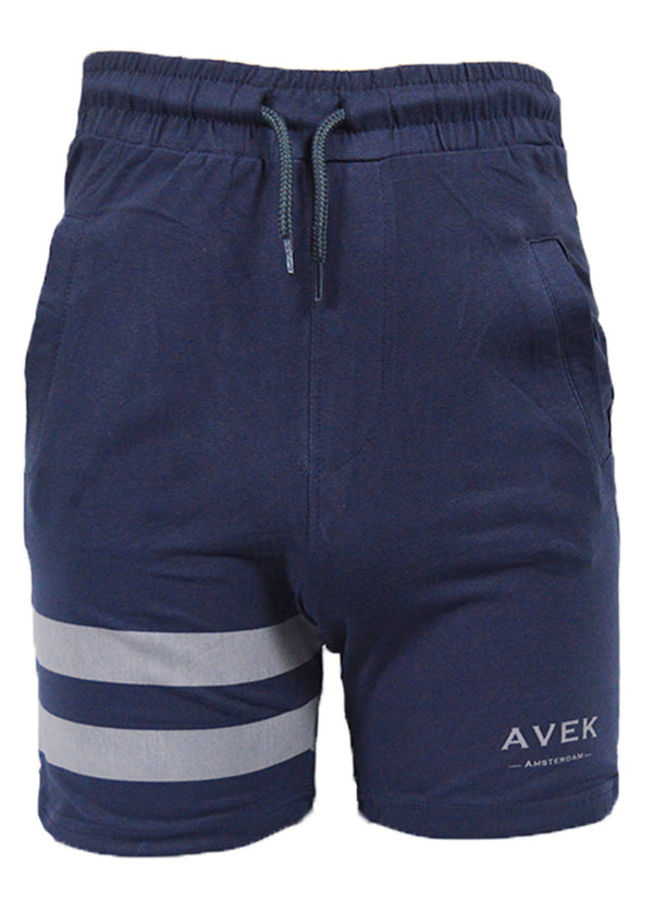 Avek Amsterdam Meander Greek Navy Blue Short