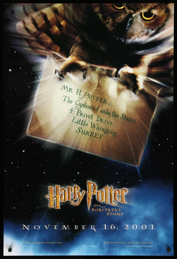 HARRY POTTER AND THE SORCERERS STONE    (STYLE B)    CREASED