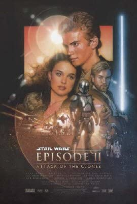 STAR WARS  EPISODE 2   (STYLE B)   SMALL TEAR BELOW CREDITS