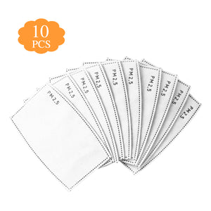 Face Mask Filters - 10 Pack