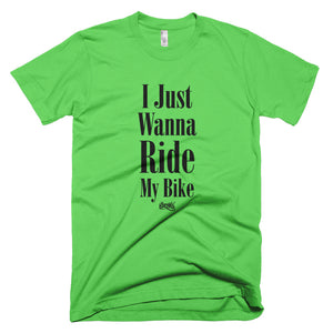 I Just Wanna Ride My Bike Tee (Multi Colors / Black)