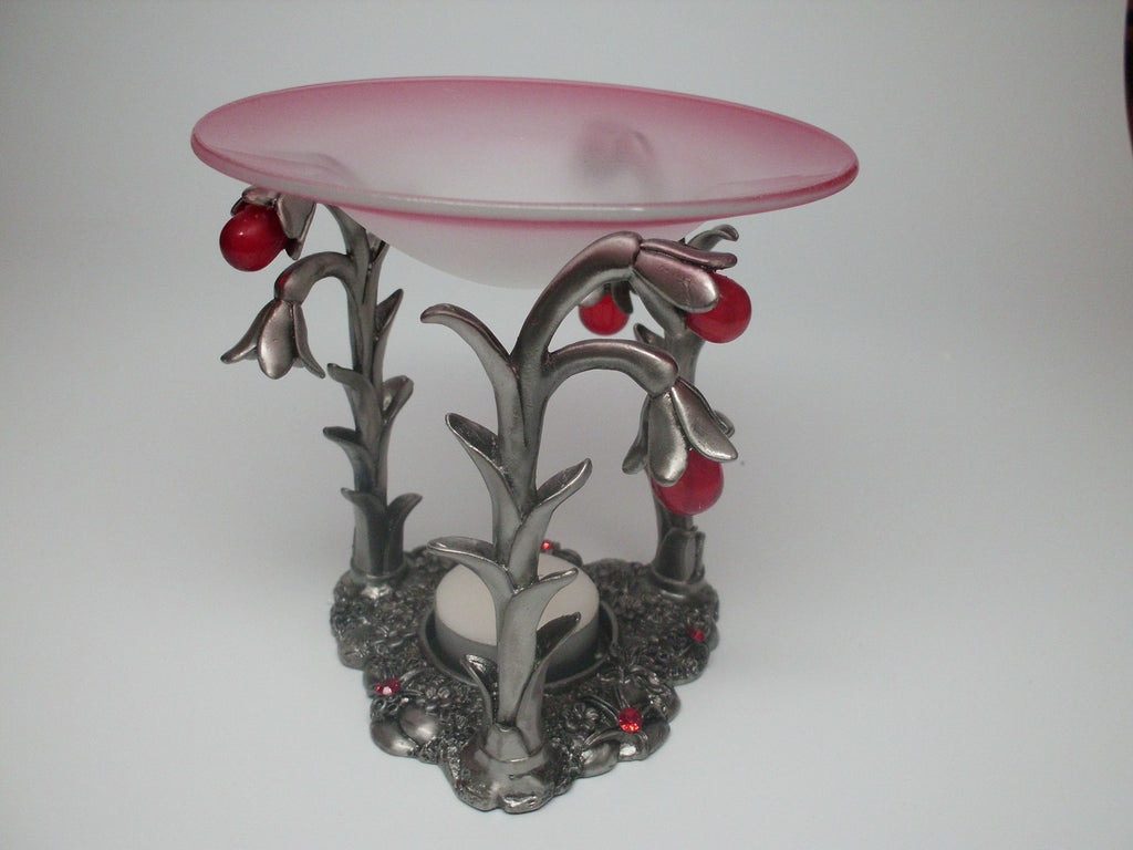 Pewter Flower Scent Burner