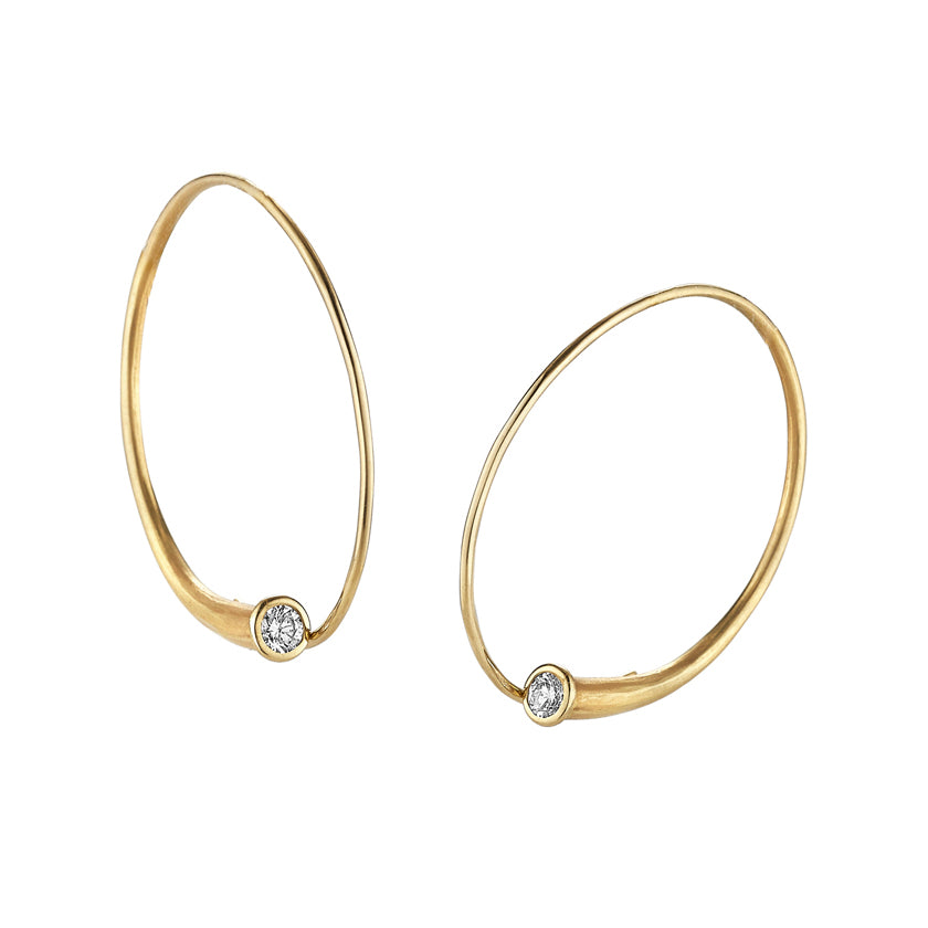 Vortex Earrings in 18K yellow gold and diamonds