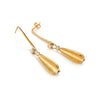 "Driftwood Earring in 18K gold with diamonds and a ""Trifold"" attachment"