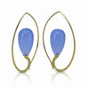 Inverted Drop earrings with Chalcedony and 18K yellow gold