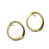 V forged hoops in sterling silver with Vermeil finish