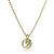 Large Coil Button Pendant in Gold with Moissanite.
