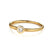 Tapered Forged Band in 18K gold or platinum with Center Diamond