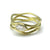 Serpentine ring with marquis diamond in 18K gold