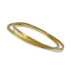 Splash Bangle in sterling silver with Vermeil finish