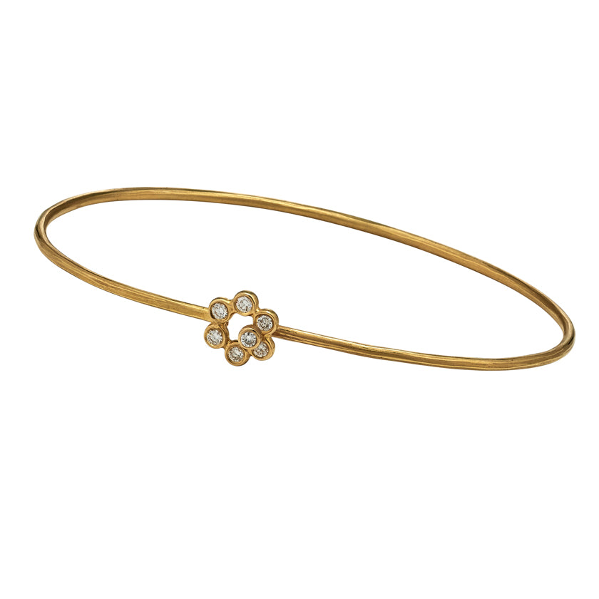 Wreath Bracelet in 18K Gold with diamonds