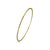 Skinny bangle in sterling silver with Vermeil finish