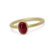 Cabochon ruby stackable ring in 18K yellow gold