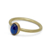 Cabochon sapphire stackable ring in 18K yellow gold
