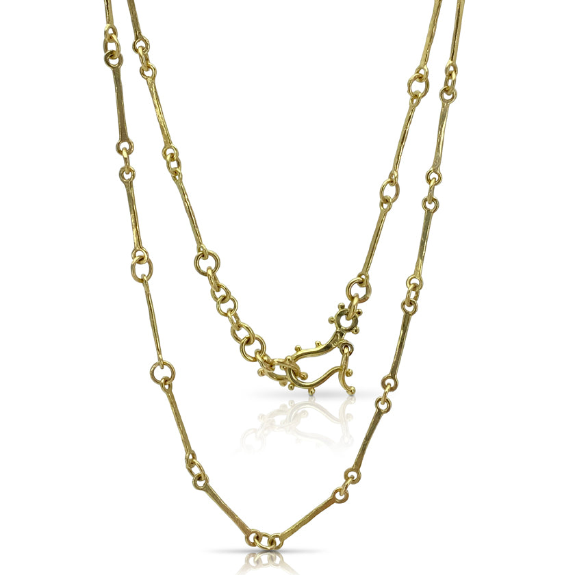 """Stick Links"" necklace 18K yellow gold"