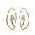 Medium Iris Earring in 18K Gold and Diamonds