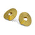 """Round ripple"" 22K gold plated sterling silver earrings"
