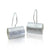 """Linear"" sterling silver earrings"