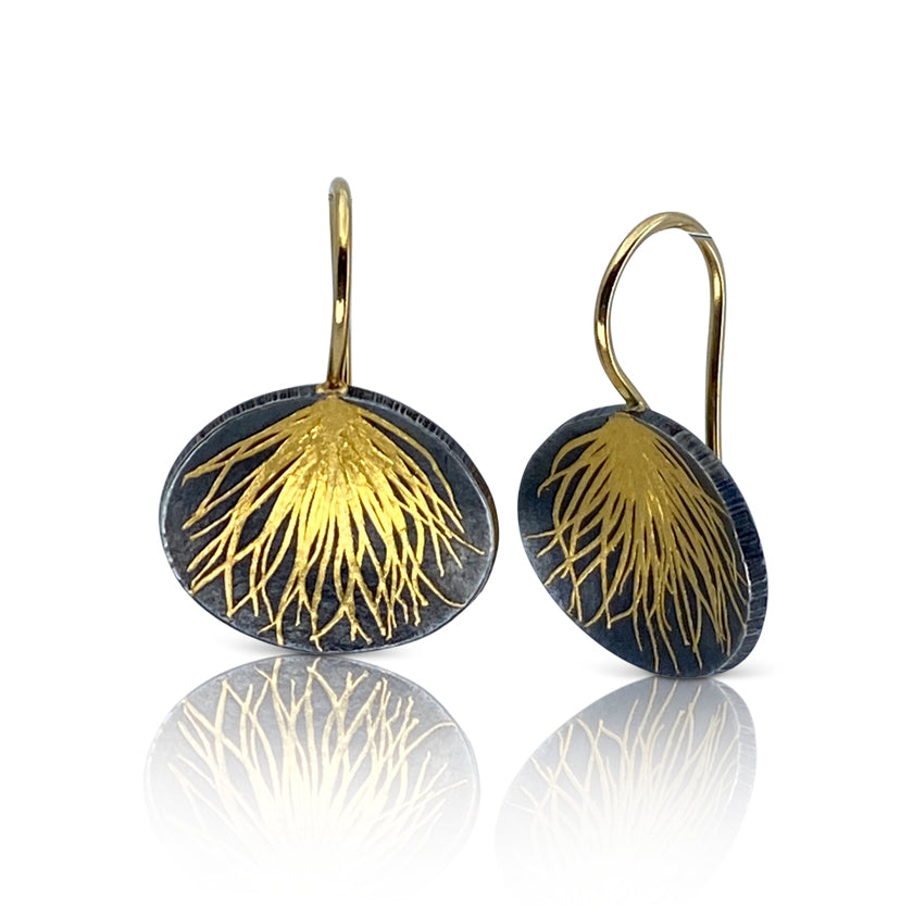 """Feather"" earrings"