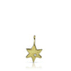Star of David in 18K yellow gold with a diamond