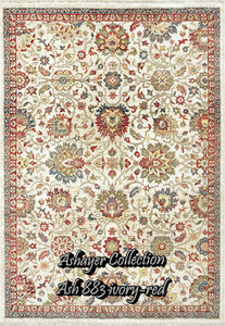 Ashayer 883 ivory-red